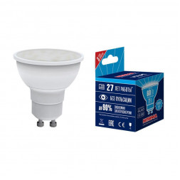 Лампа светодиодная (UL-00003836) GU10 7W 4000K матовая LED-JCDR-7W/NW/GU10/NR