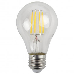 Лампа светодиодная филаментная ЭРА E27 9W 2700K прозрачная F-LED A60-9W-827-E27