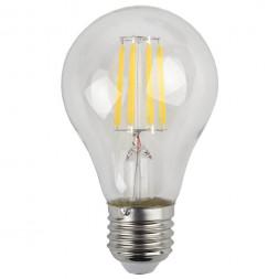 Лампа светодиодная филаментная ЭРА E27 9W 4000K прозрачная F-LED A60-9W-840-E27