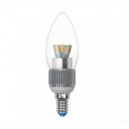 Лампа светодиодная диммируемая (08746) E14 5W 4500K прозрачная LED-C37P-5W/NW/E14/CL/DIM