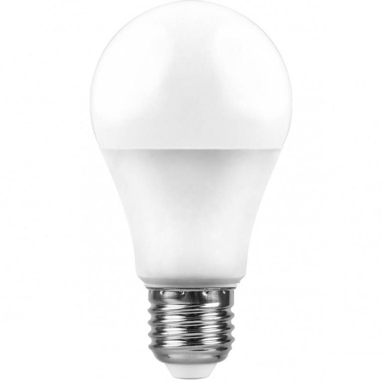 Лампа светодиодная Feron E27 7W 2700K Шар Матовая LB-91 25444