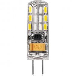 Лампа светодиодная Feron G4 2W 2700K Прямосторонняя Матовая LB-420 25858