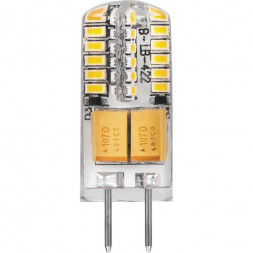 Лампа светодиодная Feron G4 3W 2700K Прямосторонняя Матовая LB-422 25531