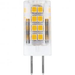 Лампа светодиодная Feron G4 5W 4000K Прямосторонняя Матовая LB-432 25861