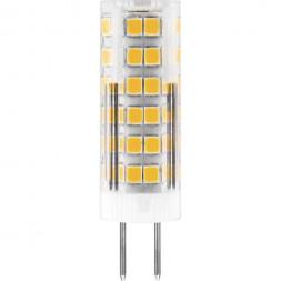 Лампа светодиодная Feron G4 7W 2700K Прямосторонняя Матовая LB-433 25863