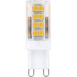 Лампа светодиодная Feron G9 5W 2700K Прямосторонняя Матовая LB-432 25769