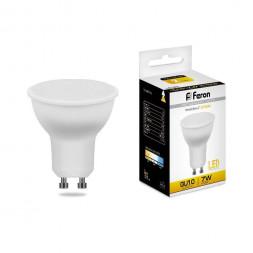 Лампа светодиодная Feron GU10 7W 2700K Грибок матовая LB-26 25289