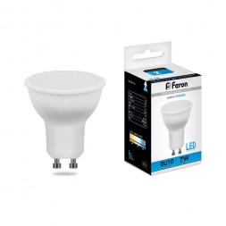 Лампа светодиодная Feron GU10 7W 6400K Грибок матовая LB-26 25291