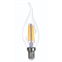 Лампа светодиодная диммируемая E14 6W 4000K прозрачная VG10-CW35E14cold6W-FD 7081