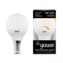 Лампа светодиодная диммируемая E14 7W 3000K матовая 105101107-D