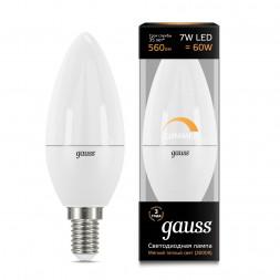 Лампа светодиодная диммируемая E14 7W 3000K матовая 103101107-D