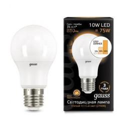 Лампа светодиодная диммируемая E27 10W 2700K матовая 102502110-S