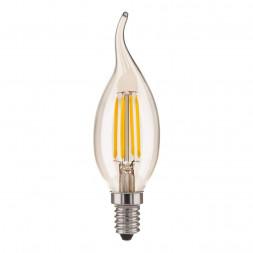 Лампа светодиодная E14 7W 3300K прозрачная 4690389128356