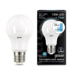 Лампа светодиодная диммируемая E27 10W 4100K матовая 102502210-S