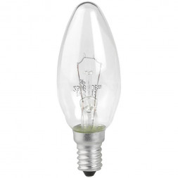 Лампа накаливания ЭРА E14 40W 2700K прозрачная ДС 40-230-E14-CL