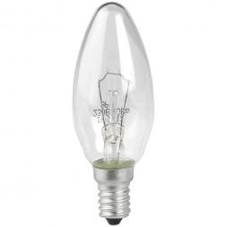 Лампа накаливания ЭРА E14 40W 2700K прозрачная ЛОН ДС40-230-E14-CL