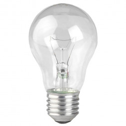 Лампа накаливания ЭРА E27 40W 2700K прозрачная ЛОН А55/А50-40-230-E27-CL
