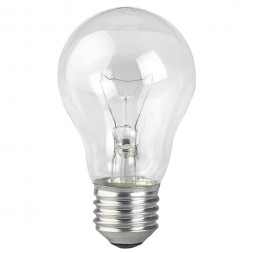 Лампа накаливания ЭРА E27 60W 2700K прозрачная A50 60-230-E27 (гофра)