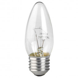 Лампа накаливания ЭРА E27 60W 2700K прозрачная ДС 60-230-E27-CL