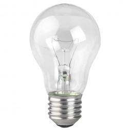 Лампа накаливания ЭРА E27 95W 2700K прозрачная A50 95-230-Е27-CL