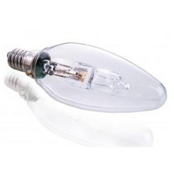 Лампа галогеновая e14 46w 2700k свеча прозрачная 332249