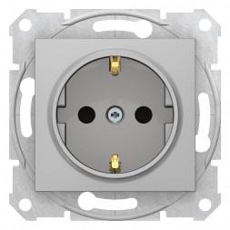 Розетка Schneider Electric Sedna с з/к со шторками 16A 250V SDN3001760