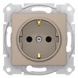 Розетка Schneider Electric Sedna с з/к со шторками 16A 250V SDN3001768