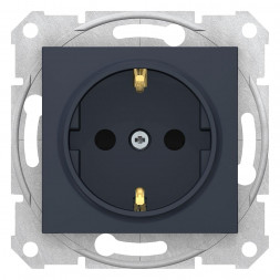 Розетка Schneider Electric Sedna с з/к со шторками 16A 250V SDN3001770
