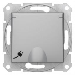 Розетка Schneider Electric Sedna с з/к со шторками и крышкой 16A 250V SDN3100460