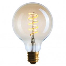 Лампа светодиодная филаментная диммируемая E27 4W 2200K золотой 056-984
