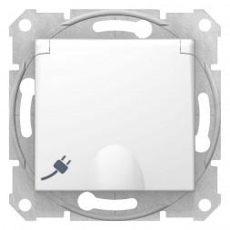 Розетка Schneider Electric Sedna с з/к со шторками и крышкой 16A 250V SDN3100521