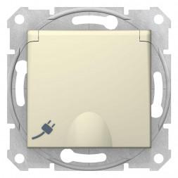 Розетка Schneider Electric Sedna с з/к со шторками и крышкой 16A 250V SDN3100547