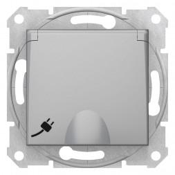 Розетка Schneider Electric Sedna с з/к со шторками и крышкой 16A 250V SDN3100560