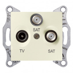 Розетка TV/SAT/SAT Schneider Electric Sedna SDN3502147