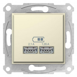 Розетка компьютерная 2xUSB Schneider Electric Sedna 2,1A SDN2710247