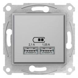 Розетка компьютерная 2xUSB Schneider Electric Sedna 2,1A SDN2710260