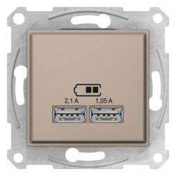 Розетка компьютерная 2xUSB Schneider Electric Sedna 2,1A SDN2710268