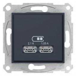Розетка компьютерная 2xUSB Schneider Electric Sedna 2,1A SDN2710270