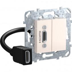 Розетка компьютерная HDMI с переходником Schneider Electric Unica MGU5.430.25ZD
