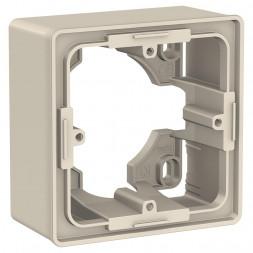 Коробка одномодульная для открытой установки Schneider Electric Unica New NU800244