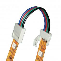 Коннектор для светодиодных лент (06613) Uniel UCX-SS4/B20-RGB White 020