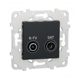 Розетка R-TV/SAT одиночная Schneider Electric Unica New NU545454