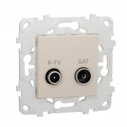 Розетка R-TV/SAT оконечная Schneider Electric Unica New NU545544