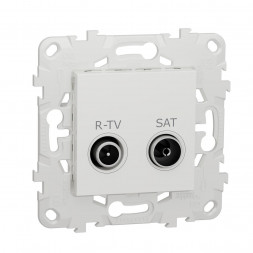 Розетка R-TV/SAT проходная Schneider Electric Unica New NU545618