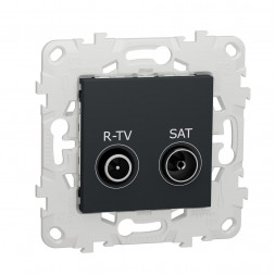 Розетка R-TV/SAT проходная Schneider Electric Unica New NU545654