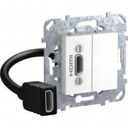 Розетка компьютерная HDMI с переходником Schneider Electric Unica MGU5.430.18ZD