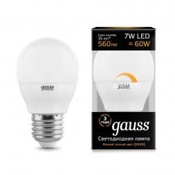 Лампа светодиодная диммируемая E27 7W 3000K матовая 105102107-D