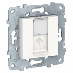Розетка компьютерная RJ45 Schneider Electric Unica New Cat. 5e UTP NU541118