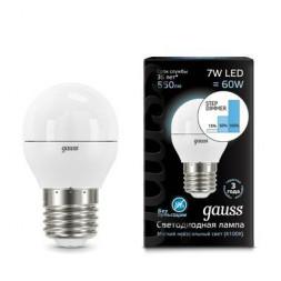 Лампа светодиодная диммируемая E27 7W 4100K матовая 105102207-S