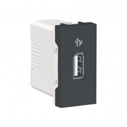 Розетка компьютерная USB Schneider Electric Unica New Modular NU342854